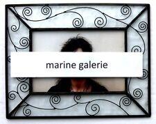 Cadre photo 10x15 en verre et métal noir à poser moderne gothique stock France