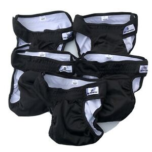 Lot of 5 Unisex Male or Female Pet Parents Washable Dog Diapers Black Size Large