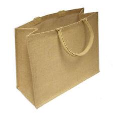 10 x Jute Hessian Large Luxury Plain Shopping Bag Bags Shopper