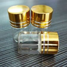 10Pcs 5ml 2 x 3cm Small Screw Cap Empty Clear Glass Bottles Container Rapture