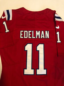 Julian Edelman Jersey Nike NFL 100 Women's New England Patriots Sewn Home Red