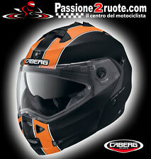 Helmet Caberg Duke Legend matt black orange moto flip up modular helm casque