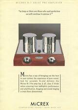Micrex R-1 Original Preamp Brochure
