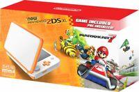 Nintendo 2DS XL Orange/White with Mario Kart 7 - Free Shipping!