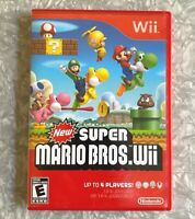 *USED* 'New Super Mario Bros Wii' Nintendo Game Complete w/ Manual FREE SHIP!