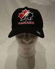 Team Canada Fan National SoGo Hockey Hat Black Hook & Loop Adjustable Ball Cap