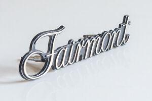 Original Classic/Vintage Ford Fairmont Chrome Grille Badge