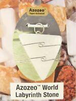 "1.1""/28mm AZOZEO™ World Labyrinth White Azeztulite™  wire wrapped Pendant #1128"