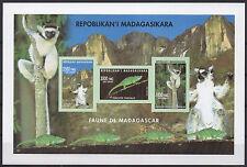 Madagascar 2002 Mi. 2590/2591/2592 Fauna Lemur mammals animals S/S Imperf Rare!