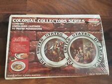 Vtg Skilcraft Colonial Collectors Series Castings Decorative Plates MISB!! 1974