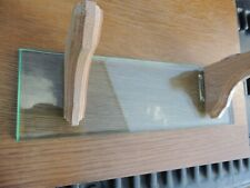 2 Pair New Red Oak Wood Shelf Brackets w/2 glass shelves~Hardware~Woodwork ing