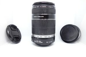 Canon EF-S 55-250mm F/4-5.6 IS Zoom Lens MANUAL FOCUS ONLY: READ DESCRIPTION
