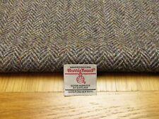 Harris Tweed gris noir herringbone vestige à-côté - 52 cm x 33 cm avec étiquette