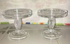Longaberger Glass Pedestal Candle Stand Set of 2 (71338)
