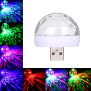Mini USB RGB LED Disco Stage Light Party Club Phone Ball Lamp Lighting Colorful