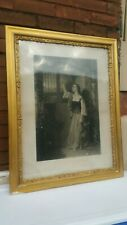 Framed Antique Large Engraving 1874 Mercy At The Wicket Gate By A.h. Ritchie
