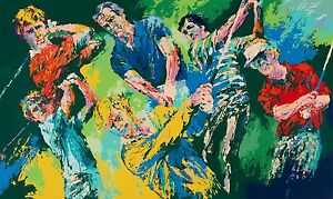 """LEROY NEIMAN LIMITED EDITION SERIGRAPH """"GOLF WINNERS"""" HAND SIGNED ~ SN 88/500"""