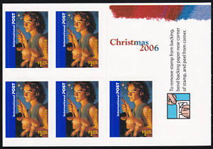 2006 Christmas International Post Booklet. S/A 5x$1.05 UNFOLDED MINT