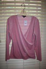 J. Crew women's pink velvet wrap top M NWT