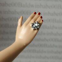 JEWELRY ~ BARBIE DOLL DYNASTY ALEXIS PLASTIC SILVER FAUX DIAMOND ACCESSORY RING