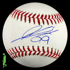 HYUN-JIN RYU AUTOGRAPHED RAWLINGS MLB BASEBALL BALL BLUE JAYS JSA COA