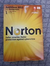Symantec Norton Antivirus Security PC Software 2011 - 1 year protection 1 User