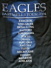 "The Eagles ""Farewell I"" 2004 concert shirt Asia/Australia. New size Large RARE"