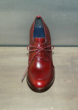 WOMAN - 39½ - BURGUNDY LACEUP DERBY - CALF ROANO  - HEEL H.10cm - LEATHER SOLE