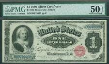 "$1.00 Silver Certificate ""Martha Washington"", 1886, Fr. #215, PMG Grade 50EPQ AU"