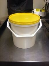5 X 10 Litre White Food Grade Plastic Buckets NEW see Details