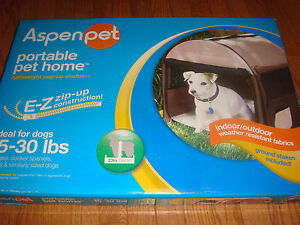 AspenPet Portable Pet Home Intermediate 15-30 lbs Dog Puppy Kennel Zip-up Cage