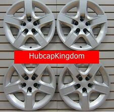 "NEW 2007-2010 SATURN AURA 17"" Screw-on Hubcap Wheelcover SET of 4 Silver"