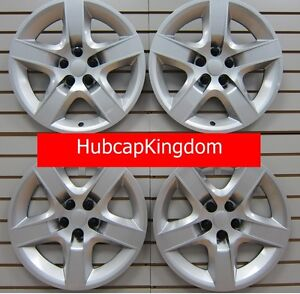 """NEW 2007-2010 SATURN AURA 17"""" Screw-on Hubcap Wheelcover SET of 4 Silver"""