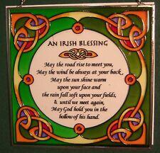 Clara vetro colorato da appendere pannello di un design Celtico Irlandese Benedizione
