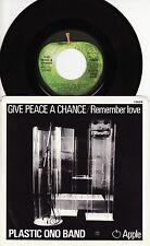 JOHN LENNON - GIVE PEACE A CHANCE Ultrarare 1969 US P/S Single Release! M-