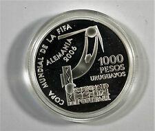 FIFA World Cup 2006-Uruguay 1000 pesos - 925 MEDAGLIA ARGENTO Azerbaijan/s4