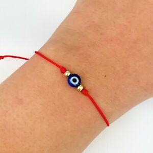 Evil eye bracelet red string protection bracelet good luck ojo turco Mal de ojo