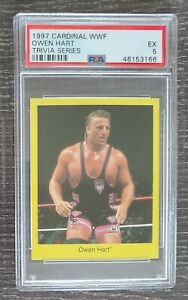 Owen Hart PSA 5 WWF Card 1997 Cardinal WWE Rocket Blue Blazer not Bret