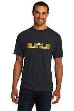 New LEBRON JAMES Men's 100% Polyester T-Shirt Tee Metallic Shiny Silver or Gold