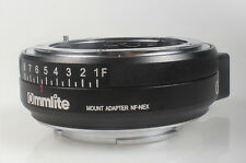 Commlite Nikon F mount G Lens To Sony NEX E adapter aperture A7 A7R II A7S A6000