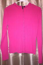 NEW $92 Designer Venini Hooded Zip Haute Pink Jacket Sweater Cardi Small S NWT