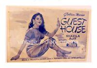 Guest House 1959 Ajit, Shakeela, Pran Bollywood PressBook Vintage Booklet