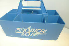Blue Plastic Shower Tote Organizer for College 9 Compartment Handle