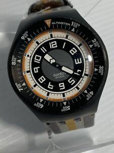 "Vintage SWATCH Watch ""Mountain Mania"" SULM101 2006 Quartz Movement New Battery"