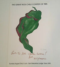 """RC GORMAN SIGNED Poster, """"CHILI LOVERS"""" 1981  Size is 16"""" X 25"""""""