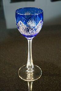 Beautiful Vintage Bohemian Flash Cobalt Wine Hock