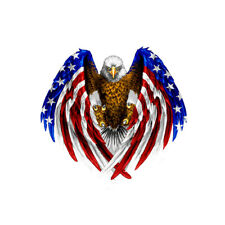 Bald Eagle American USA Flag Car StickerWindow Bumper Laptop Cooler Auto Decal