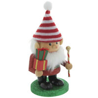 Red & White Glitter Striped Gnome Nutcracker. Sentimental Seasonal Decor