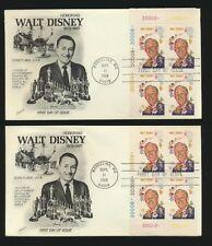 Walt Disney 1968 Fleetwood Set of 4 w/ Matching PL # Blocks Unaddressed #1355
