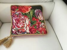 Decorative Pillow With Hand Embroidery , Size 14/14 .